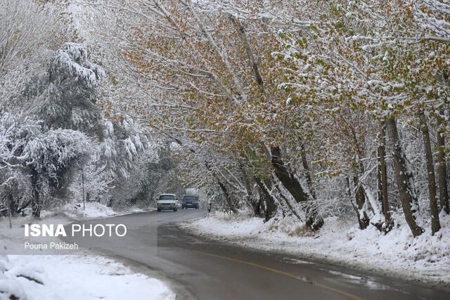 استقرار پلیس راه استان در 10 نقطه برف گیر